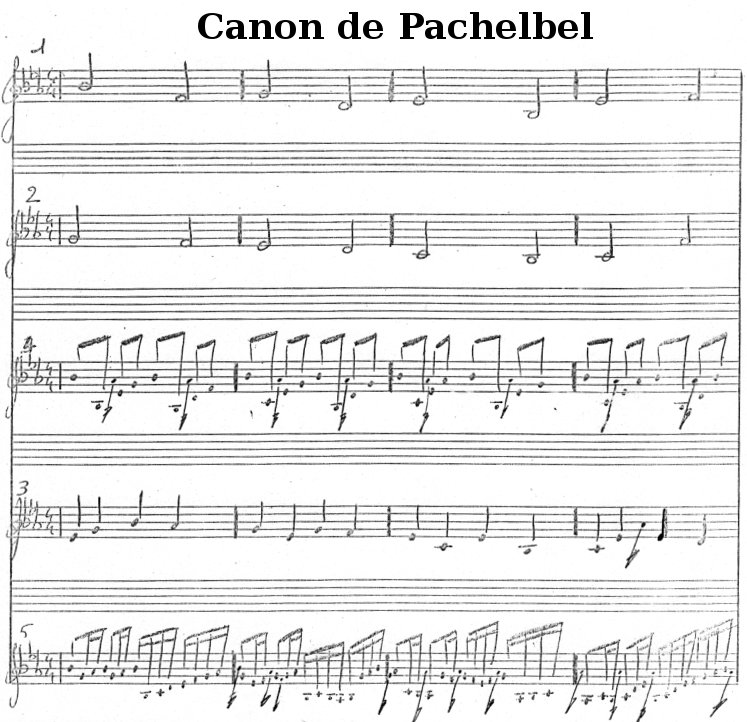 Pachelbel's Canon (free sheet music)