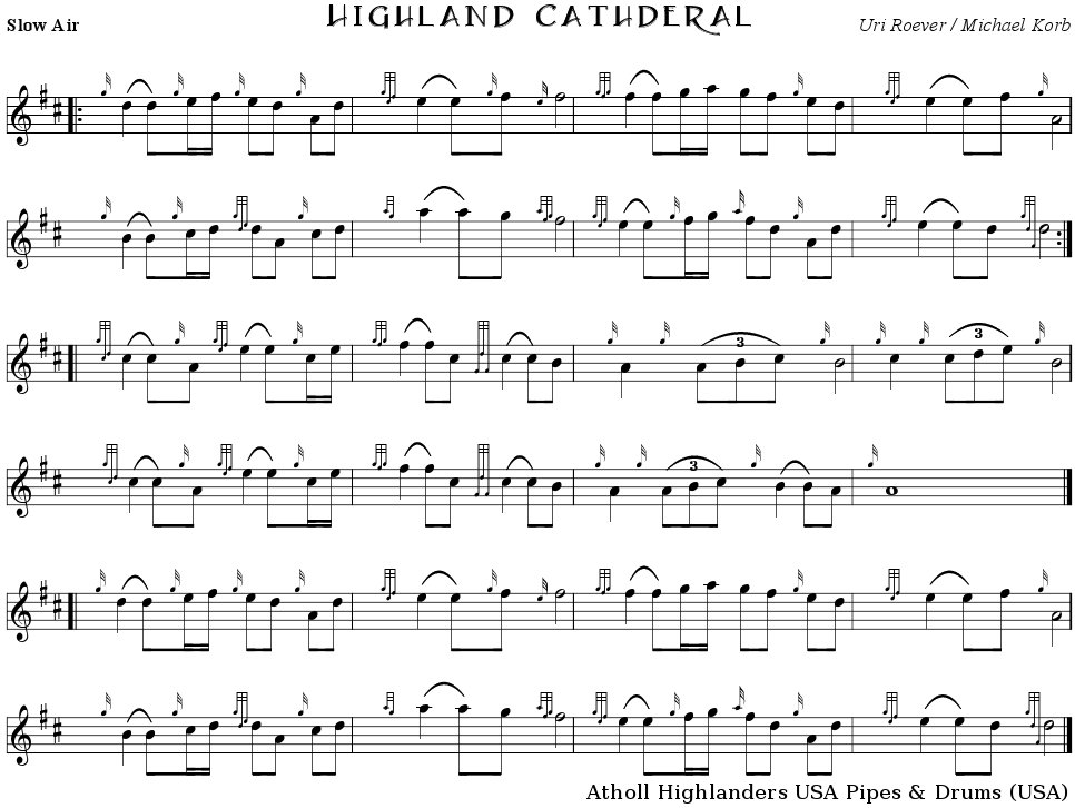 Highland Cathedral (free sheet music)